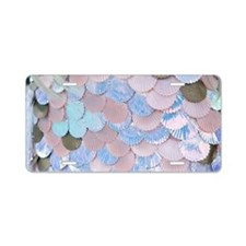 mermaid shells Aluminum License Plate