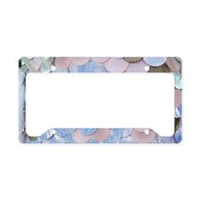 mermaid shells License Plate Holder