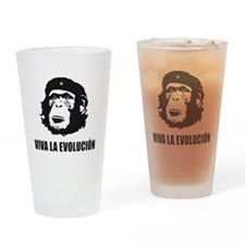 Viva La Evolucion Design Drinking Glass
