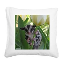 May Flowers Square Canvas Pillow