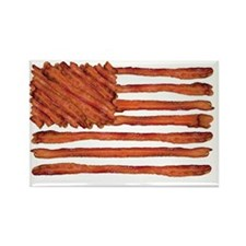 United States of Bacon Flag Rectangle Magnet