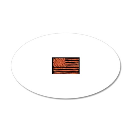 United States of Bacon Flag 20x12 Oval Wall Decal