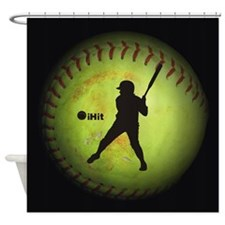 iHit Fastpitch Softball (left handed) Shower Curta