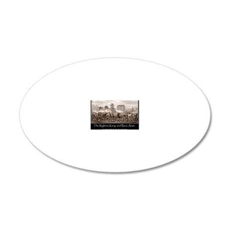 The Right to Keep and Bear A 20x12 Oval Wall Decal