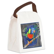Rainbow Lorikeet Canvas Lunch Bag