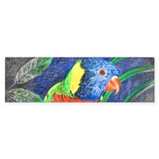 Rainbow Lorikeet Bumper Sticker
