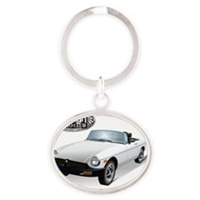 British White Sweetheart-FAC Oval Keychain