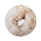 Powdered Sugar Donut Ornament (Round)