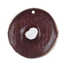 Chocolate Donut Ornament (Round)