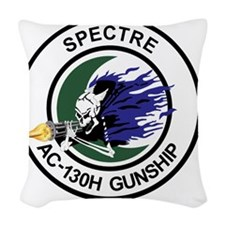 AC-130H Spectre Gunship Woven Throw Pillow