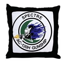 AC-130H Spectre Gunship Throw Pillow