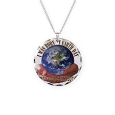 Earth Day Necklace Circle Charm
