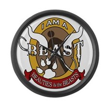 I Am A Beast Large Wall Clock