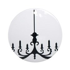 Simple Chandelier Round Ornament