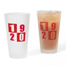 Established 1920 Designs Drinking Glass