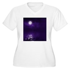 Clouds-Purple-Mid T-Shirt