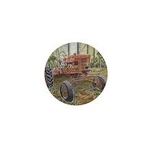 old farm tractor antique Mini Button