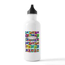 retired teacher funky  Water Bottle