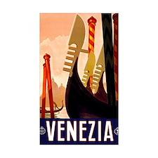 Antique Venice Gondolas Travel Decal