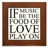 Music-Food-Love Quote Framed Tile
