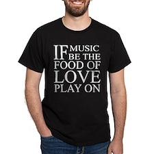 Music-Food-Love Quote Dark T-Shirt
