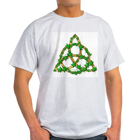 Leaf Triquetra Ash Grey T-Shirt