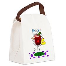 Dietician Apple Purple Canvas Lunch Bag