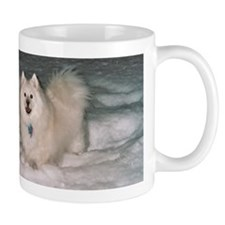America Eskimo Dog At Home in the Snow Mug