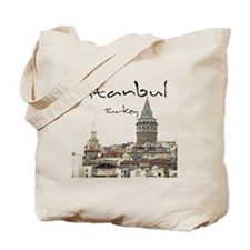 Istanbul_12X12_GalataTower Tote Bag
