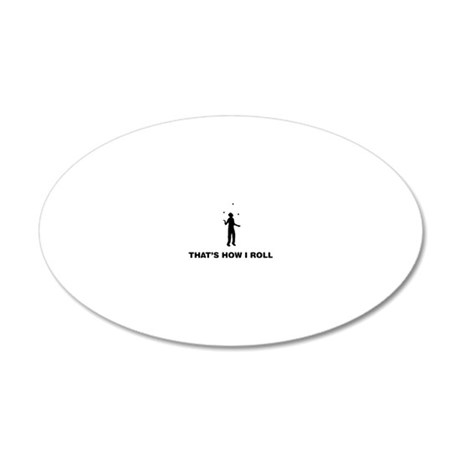 Juggling-12-A 20x12 Oval Wall Decal