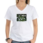Snow Plant Women's V-Neck T-Shirt