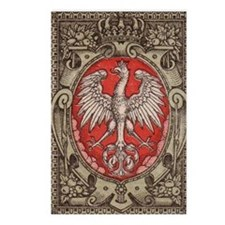 Polish Eagle 1917 1/2 Mar Postcards (Package of 8)