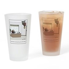 gravity of situation Drinking Glass