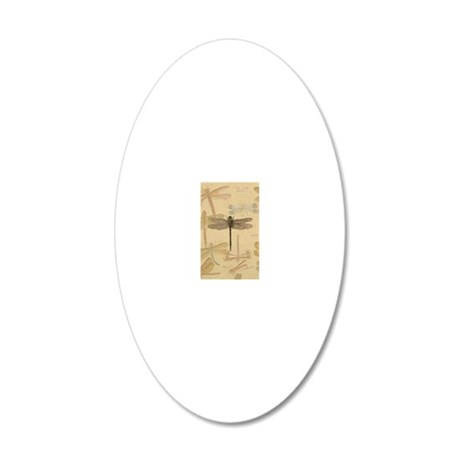 Dragonfly Vintage 20x12 Oval Wall Decal