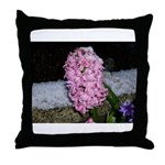 Snow Hyacinth Throw Pillow