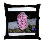 Snow Hyacinth Throw Pillow