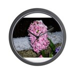 Snow Hyacinth Wall Clock