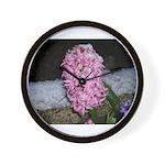 Snow Hyacinth Wall Clock