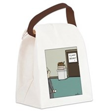 snake on suggestion box Canvas Lunch Bag
