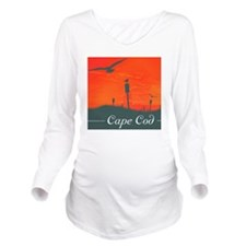 seagul sunset Long Sleeve Maternity T-Shirt