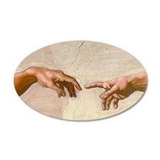 Michelangelo Creation of Ada Wall Sticker
