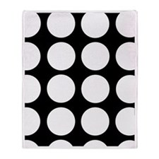 White dots Throw Blanket