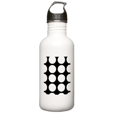 White dots Stainless Water Bottle 1.0L