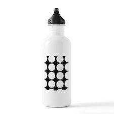 White dots Water Bottle