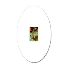 Degas Dancer Green Ballet Im 20x12 Oval Wall Decal
