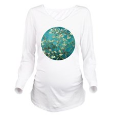 Van Gogh Almond Blos Long Sleeve Maternity T-Shirt