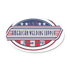 AW Supply Logo Oval Car Magnet