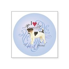"""russell-round Square Sticker 3"""" x 3"""""""