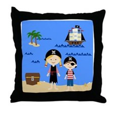 Pirate Life Older Girl Throw Pillow