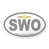 Surface Warfare Officer SWO Oval Decal